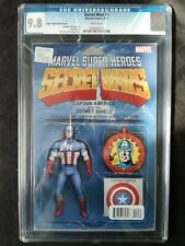 MARVEL SECRET WARS #4 CAPTAIN AMERICA ACTION FIGURE VARIANT COVER CGC 9.8