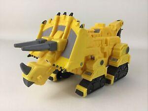 "Dinotrux Talking Dozer Figure Dinosaur Truck Netflix Large 12"" Plastic Mattel A2"