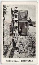 Mechanical Bucket Construction Excavator 1930sTrade Ad Card