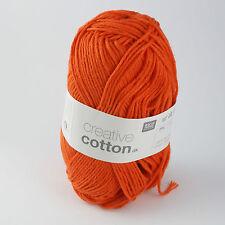 Rico Creative Cotton DK - 100% Cotton Knitting & Crochet Yarn - Orange 007