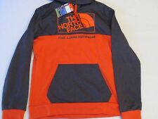 The North Face SURGENT BLOCK PULLOVER HOODIE TNF Grey Orange Mens SIZE LARGE L