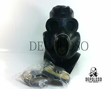 USSR soviet paratrooper gas mask EO-19 PBF Black rubber mask  Size Small