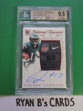 2015 National Treasures Nelson Agholor Rookie Patch Auto Laundry Tag 1/3 SSP!!