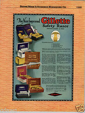 1924 PAPER AD Gillette Deluxe 22K Gold Gillette Safety Razor Traveler Fat Boy
