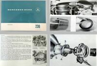 Mercedes Benz 230 W110 Betriebsanleitung Original 1967 Wartung Pflege