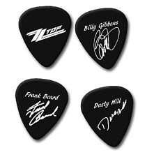 ZZ TOP BILLY GIBBONS DUSTY FRANK signature print plectrum guitar picks picks