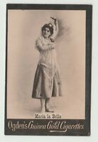 Ogdens Guinea Gold Base M Actors & Actresses List Mh MB62 Maria La Bella