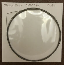 """Piano / Music Wire - 10ft coil, 0.024, 0.026, 0.029, 0.031, 0.033, or 0.035"""" dia"""