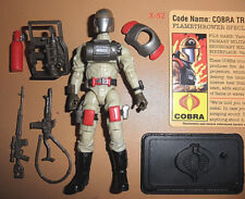 GIJOE gi joe COBRA DESERT FLAME thrower TROOPER viper Officer FIGURE exclusv toy