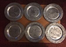Wilton Columbia Decorative Pewter Plates From 1979-1984