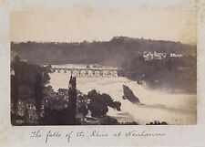 Suisse falls Neuhausen Rhin Rhine Vintage albumine