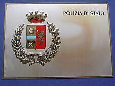 TARGA CREST PLACCA SILVER PLATED 1000/000 POLIZIA DI STATO REPUBBLICA ITALIANA 3