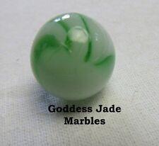 "Antique Alley Agate White Based Green Swirl 5/8"" Goddess Jade Marbles"
