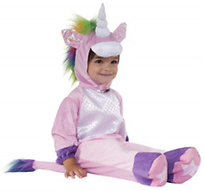 New Cute 6-12 Month Infant Baby Pink/Purple Unicorn Dress-Up Halloween Costume