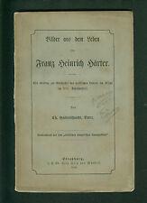 Bilder aus dem Leben von Franz Heinrich Haerter Pfarrer im Elsaß 1888 Härter