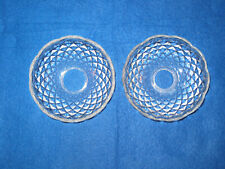 Set of 2 Clear Glass Candle Bobeche Chandelier Sconce Lamp Parts
