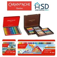 Caran d'Ache Neocolor I Water Resistant Wax Pastels Set Artist Oil Crayons Paint