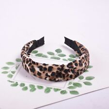 Leopard Print Chiffon Hair Bands For Women Girls Knotted Headband Lady Hair Hoop