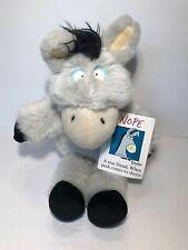 """Vtg Sandra Boynton Nope Donkey Plush 12"""" W Tag 1994 Stuffed Animal Gund Toy"""