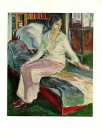 "1970 Vintage MUNCH ""SEATED MODEL"" COLOR offset Lithograph"