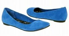 Hot Kiss Maxx blue suede leather ballet flats sz 6 Med NEW