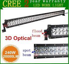42inch 240W CREE Combo 3D Lens Led Light Bar Boat Atv Ute Offroad Vehicle Suv