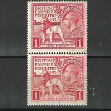 1924 GEORGE V BRITISH EMPIRE EXHIBITION 1d MINT PAIR MNH UNMOUNTED MINT