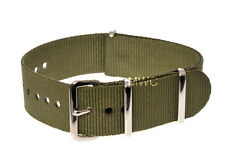 Genuine 22mm Olive N.A.T.O Military Watch Strap manufactured by MWC of Zürich