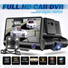"Car DVR 1080P 4"" Dual Lens HD Rearview Video Dash Cam Recorder Camera G-sensor"