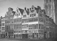 BELGIUM Antwerp Grote Markt - 1860s Antique Engraving Print