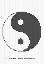 Crochet Pattern/Patterns ~ YIN-YANG symbol pattern
