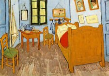 Vincent van Gogh. Bedroom in Arles. Genuine Canvas for Sale. Fast + Free UK.