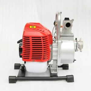 WOO 1 inch 2 Stroke Portable Petrol High Flow Water Transfer Pump Irrigation New