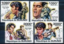 BURUNDI 2011 MNH 4v, Elvis Presley, Singer, Actor, Signature