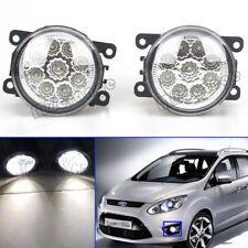 Pair LED Front Fog Light Lamp For Opel Vauxhall Astra H Mk5 VXR 2004-2010 Agila