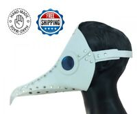 Plague Dr. Mask Steampunk Masquerade Raven Leather Renaissance Cosplay Costume