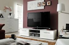Soto 1 - White living room tv media stand / television stand / tv console