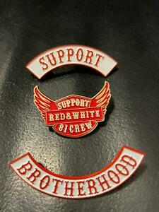 support 81 nomad brotherhood jacket vest 1%ER ANGELS 99% HELLS patch pin badges