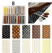Foil Nail Art Transfer Sticker Set 10 Pieces Different Designs- New Arrivals BAG