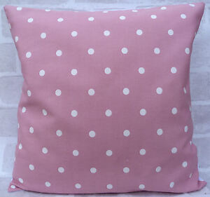 Clarke and Clarke Dotty Spot Rose Pink cushion cover 16 inch all sizes