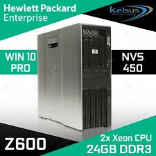 HP Z600 Workstation PC Dual Xeon 24GB RAM 1TB HDD Quadro Windows 10 Pro Computer