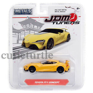 Jada JDM Tuners Toyota FT-1 Concept 1:64 Diecast Model Car Yellow 14036