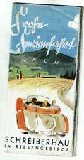 Seltene Broschüre! Frohe Ferienfahrt nach Schreiberhau im Riesengebirge 1938