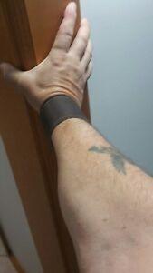 1x180mm-200mm dark brown leather cuff/wristband#146