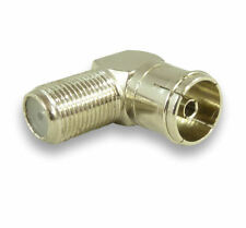 Angled TV Aerial Adapter TV Coaxial Female To F Adapter F plug Female 90 degree