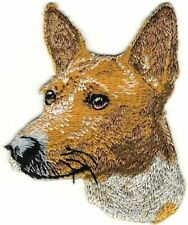 "3"" Basenji Portrait Dog Breed Embroidery Patch"