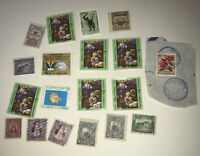 Small Lot of 1900's Used & Mint El Salvador Postage Stamps - Unsorted Mixed Lot