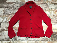 CHAPS Women's Red Cotton Cardigan Size L