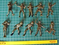 1950s Plastic US GI Soldiers x 10 from Revell/Aurora/Renwal Vintage Kits