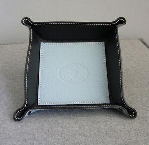 Taschenleerer Leder Ablageschale Schlüsselablage Schlüsselbox Blau Schale Neu